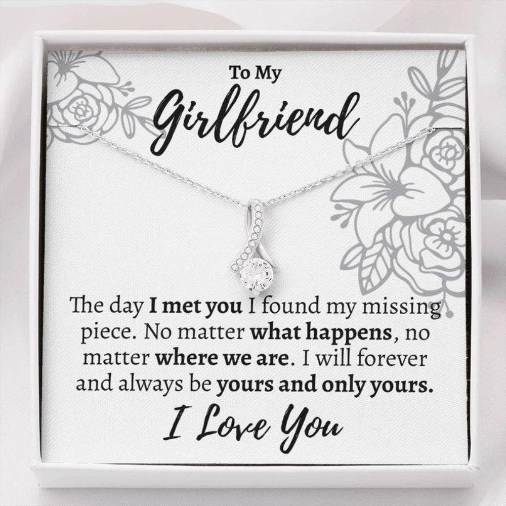 Girlfriend Necklace, Girlfriend Gift, Thoughtful Gift For Girlfriend, Girlfriend Birthday Necklace, Romantic Gift For Girlfriend