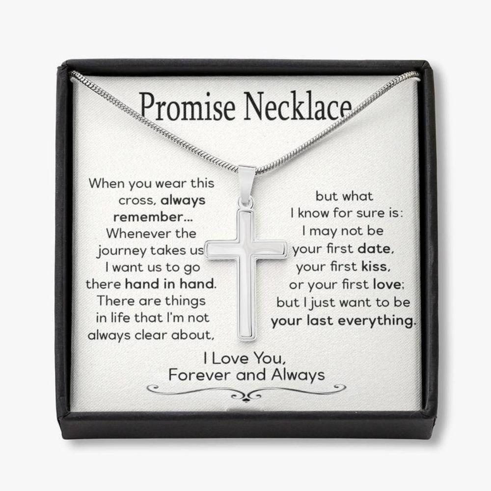 Girlfriend Necklace, Promise Necklace For Him, Anniversary Necklace Gift For Boyfriend, Promise Gift For Him, Promise Jewelry, Sentimental Gift