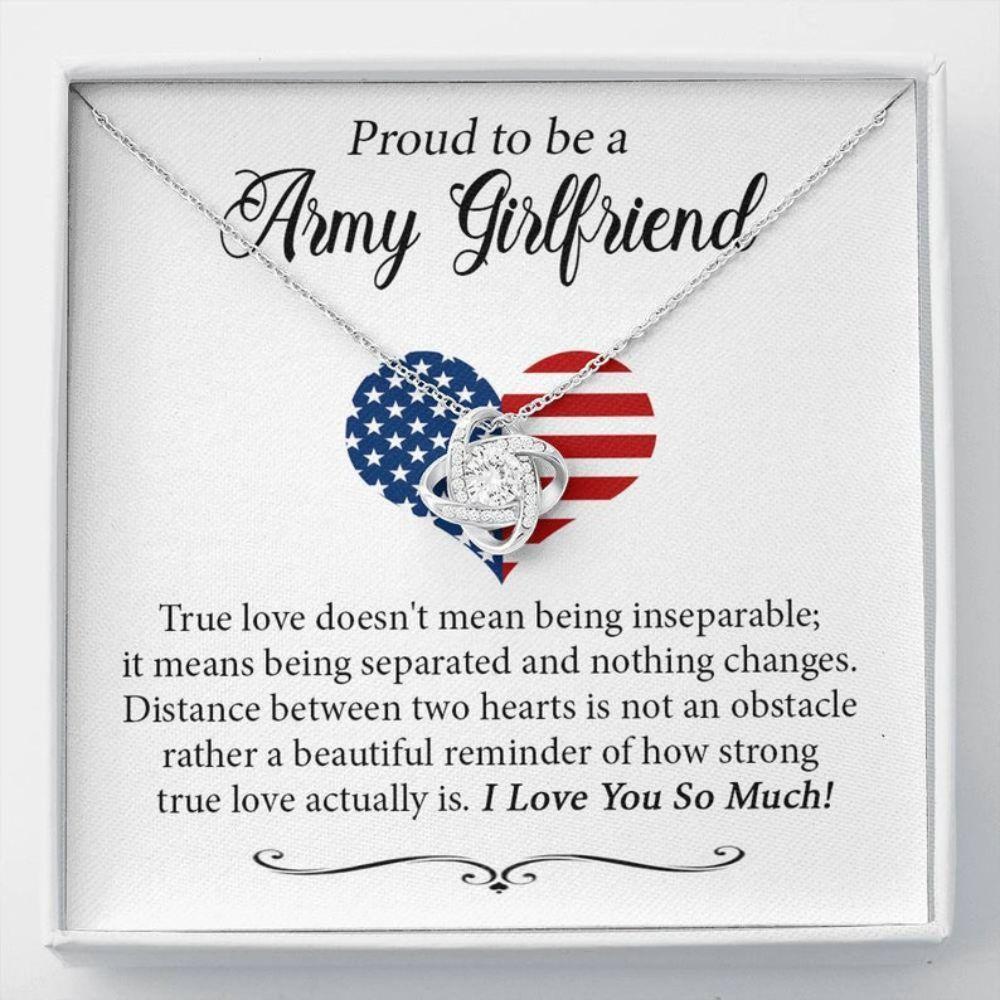 Girlfriend Necklace, Proud Army Girlfriend Gift, Necklace For Army Girlfriend, US Army Girlfriend, Police Girlfriend Gift, Girlfriend Anniversary
