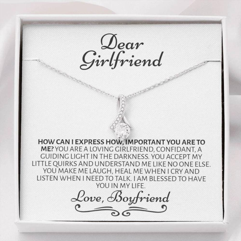 Girlfriend Necklace, Romantic Necklace For Girlfriend, Cute Gift For Girlfriend, Girlfriend Birthday Anniversary Gift, Meaningful, Thoughtful