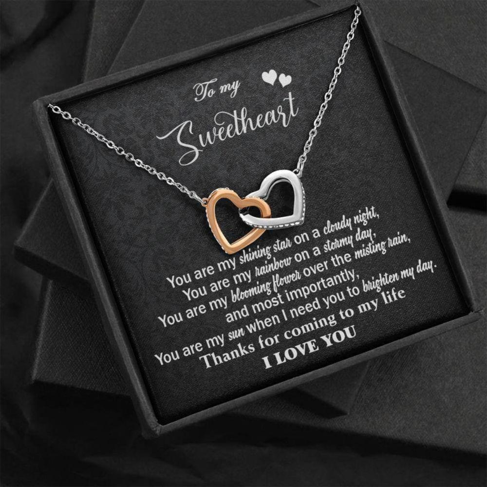 Girlfriend Necklace, To My Sweetheart Necklace, Engagement Gift For Her, Necklace For Fiance, Wife Necklace, Anniversary Necklace Gift