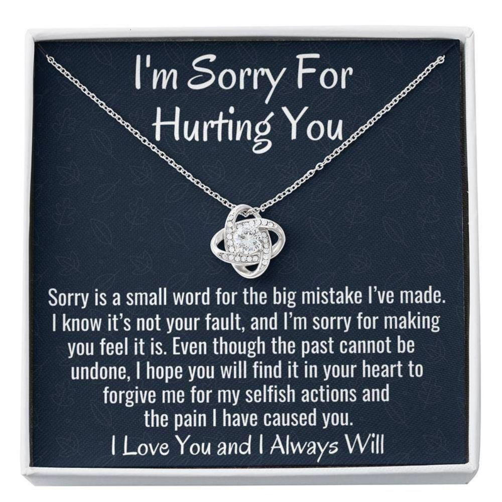 Girlfriend Necklace, Wife Necklace, I'm Sorry Gift, Apology Gift For Partner Wife Or Girlfriend Loved One