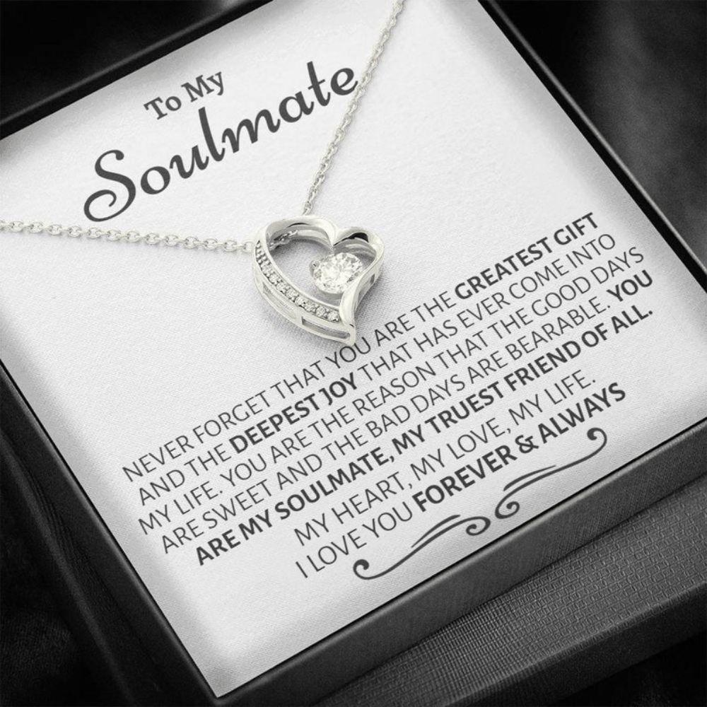 Girlfriend Necklace, Wife Necklace, Soulmate Gift, Unique Romantic Gift, Romantic Gift For Her, Thoughtful Gift For Her