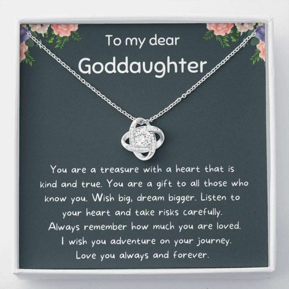 Goddaughter Necklace, Goddaughter Gifts From Godmother, First Communion Gift Girl, Confirmation Gifts For Girls Necklace