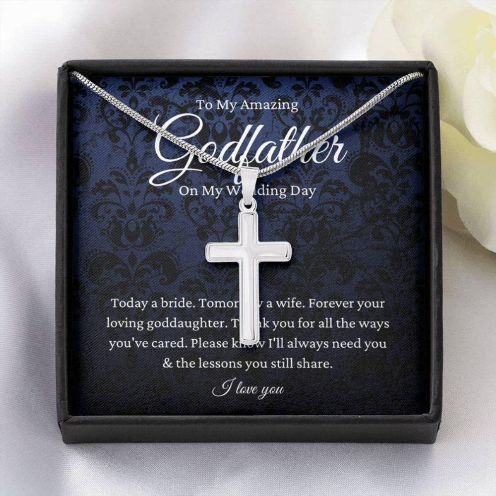Godfather Necklace, Godfather Of The Bride Gift From Goddaughter, To Godfather Wedding Day Gift From Bride
