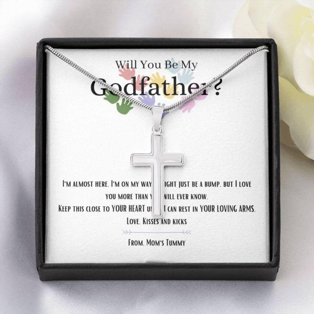Godfather Necklace, Godfather Proposal Gift, Necklace For Godfather, Will You Be My Godfather Necklace