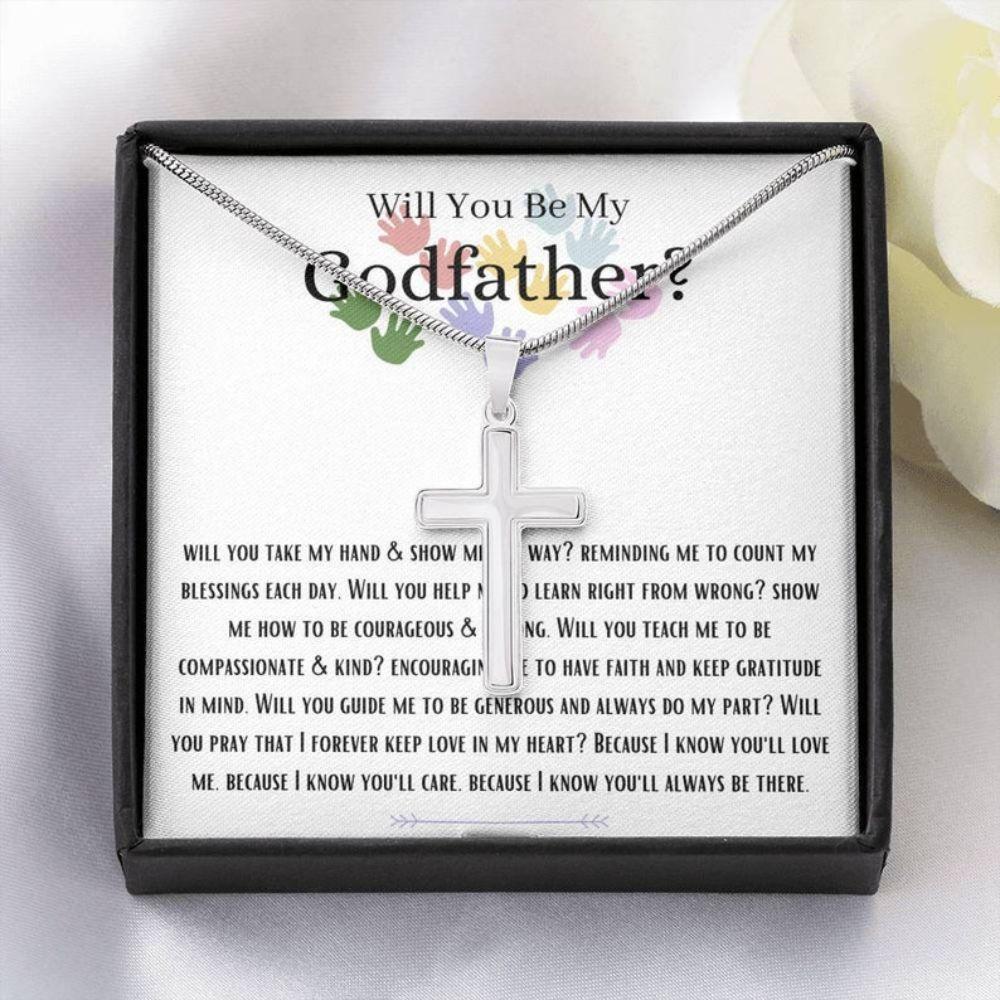 Godfather Necklace, Will You Be My Godfather Necklace, Future Godfather Gift, Godfather Proposal Gift