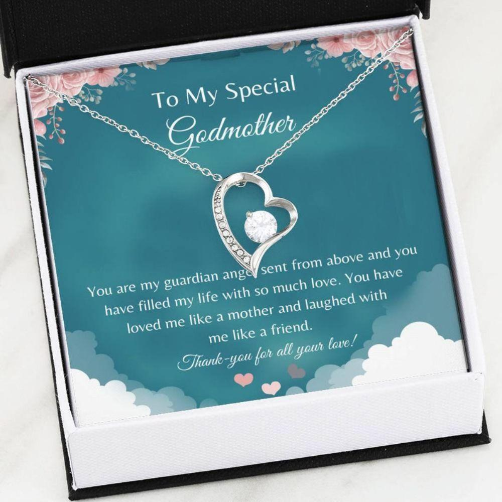 Godmother Necklace - Thank You Godmother - Baptism Gift - Godmother Necklace Card - Love For Godmother - Family Keepsake
