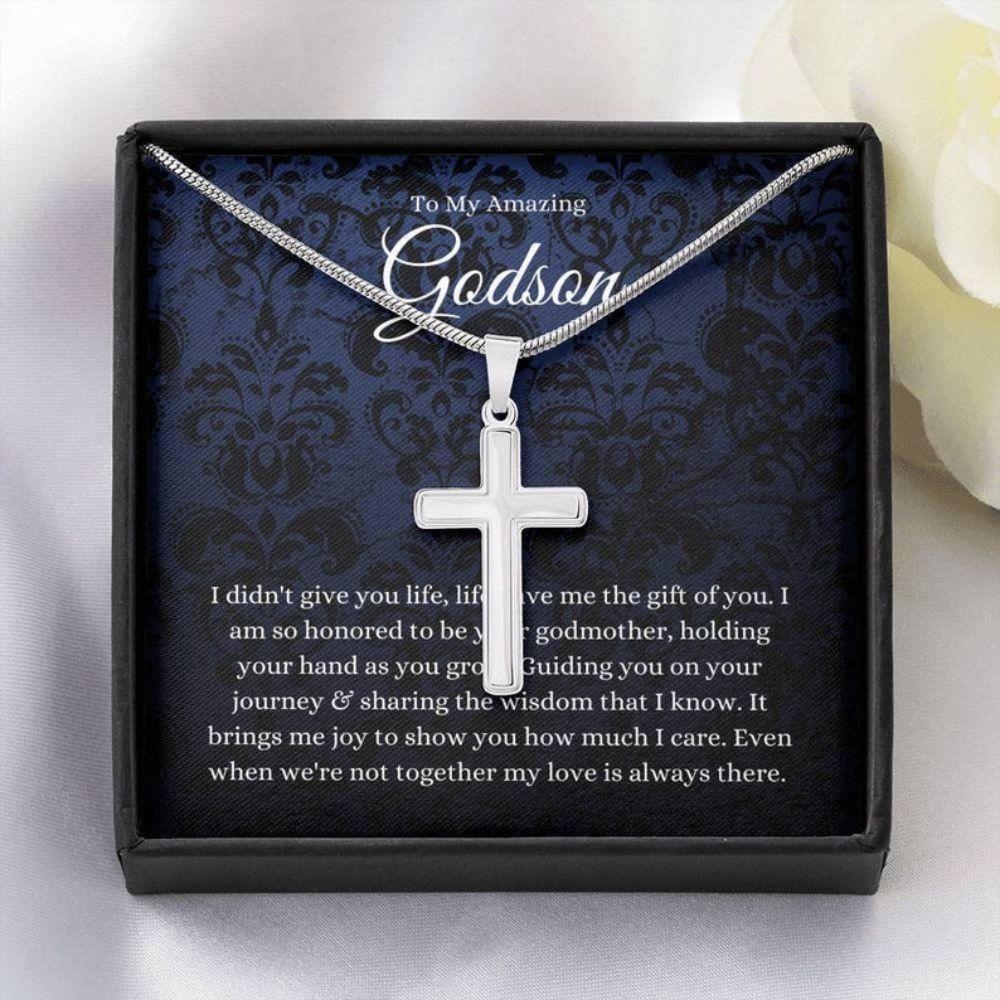 Godson Necklace, Godson Gifts From Godmother, Baptism Gift Godson First Communion Gift For Boys