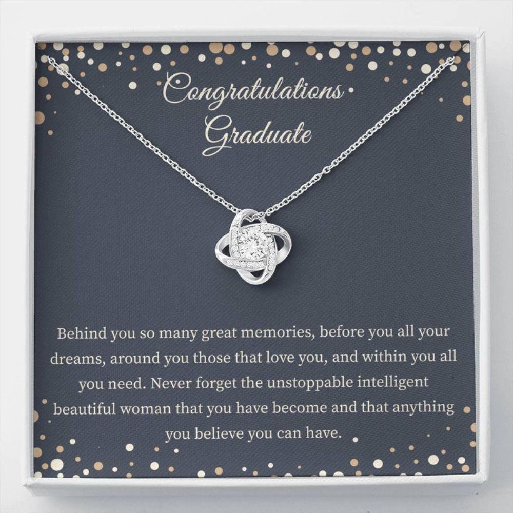Graduation Necklace - Gift For Graduate - Love Knot Necklace - Graduation Card - Sweet Gift Ideas - Highschool Graduation
