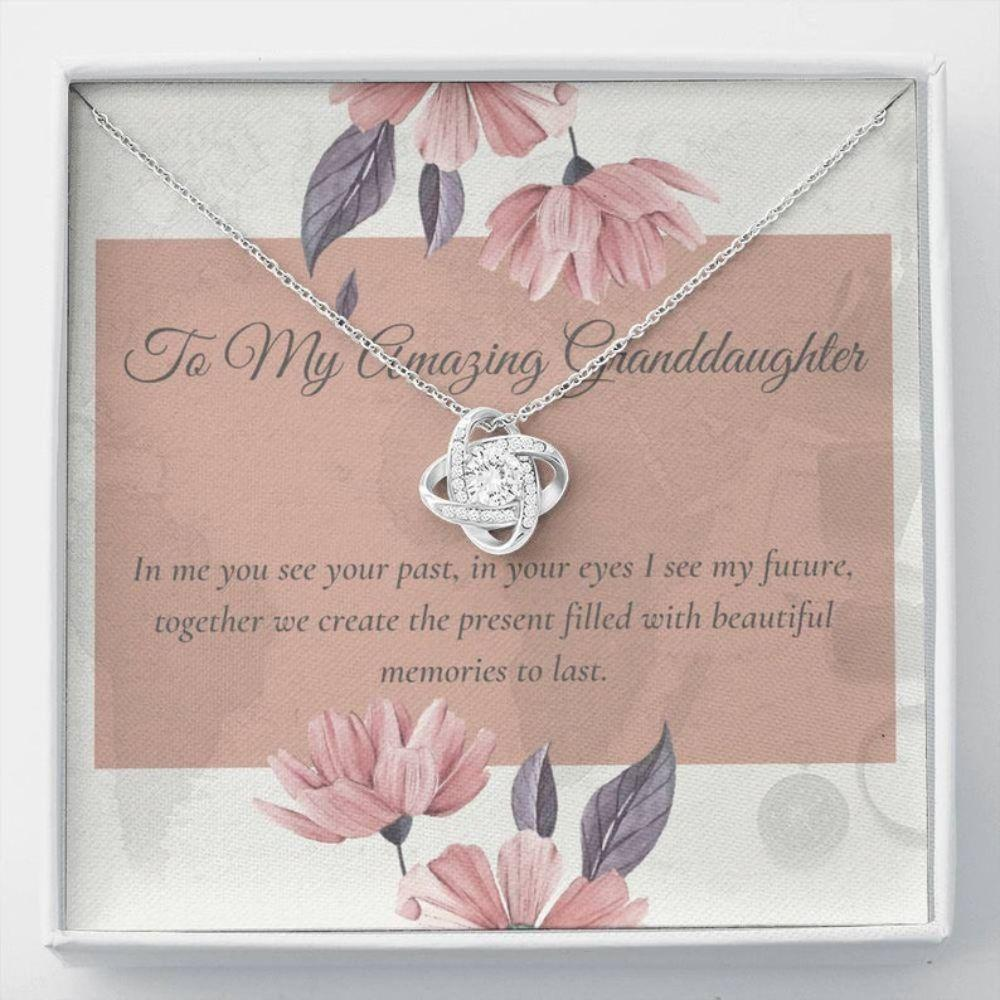 Granddaughter Necklace, Best Granddaughter Gift - Sweet Granddaughter Card - Meaningful Necklace - Love From Grandma Necklace