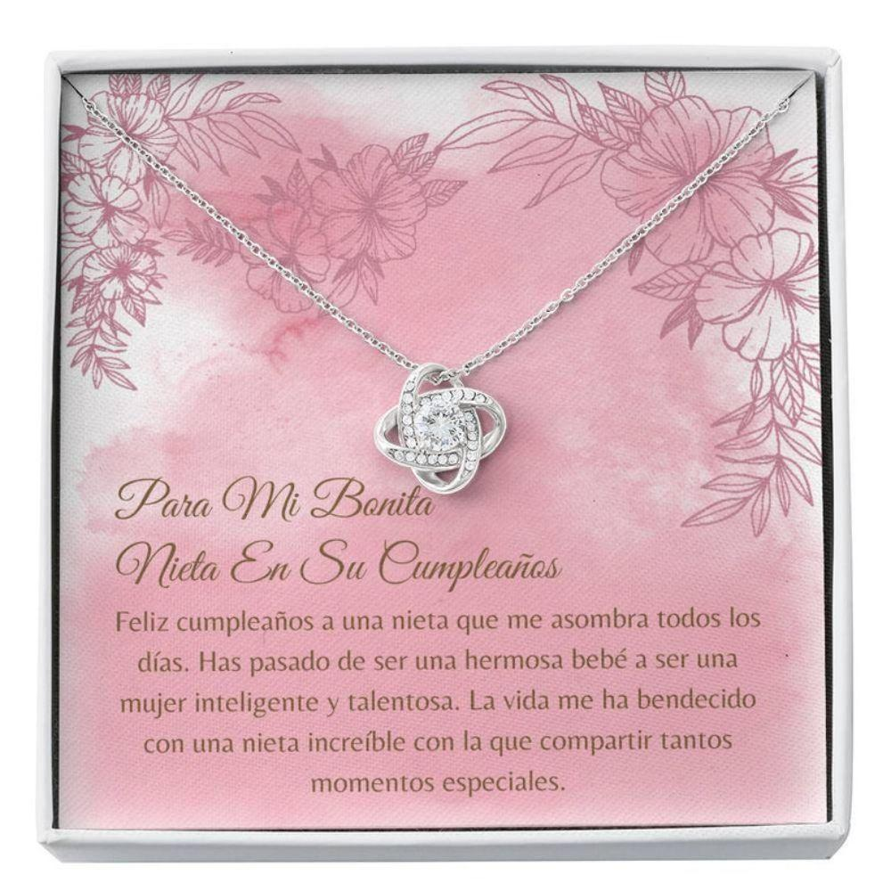 Granddaughter Necklace, Collar Cumpleanos Nieta - Latina Granddaughter Gift - Carta Cumpleanos - Spanish Granddaughter Birthday