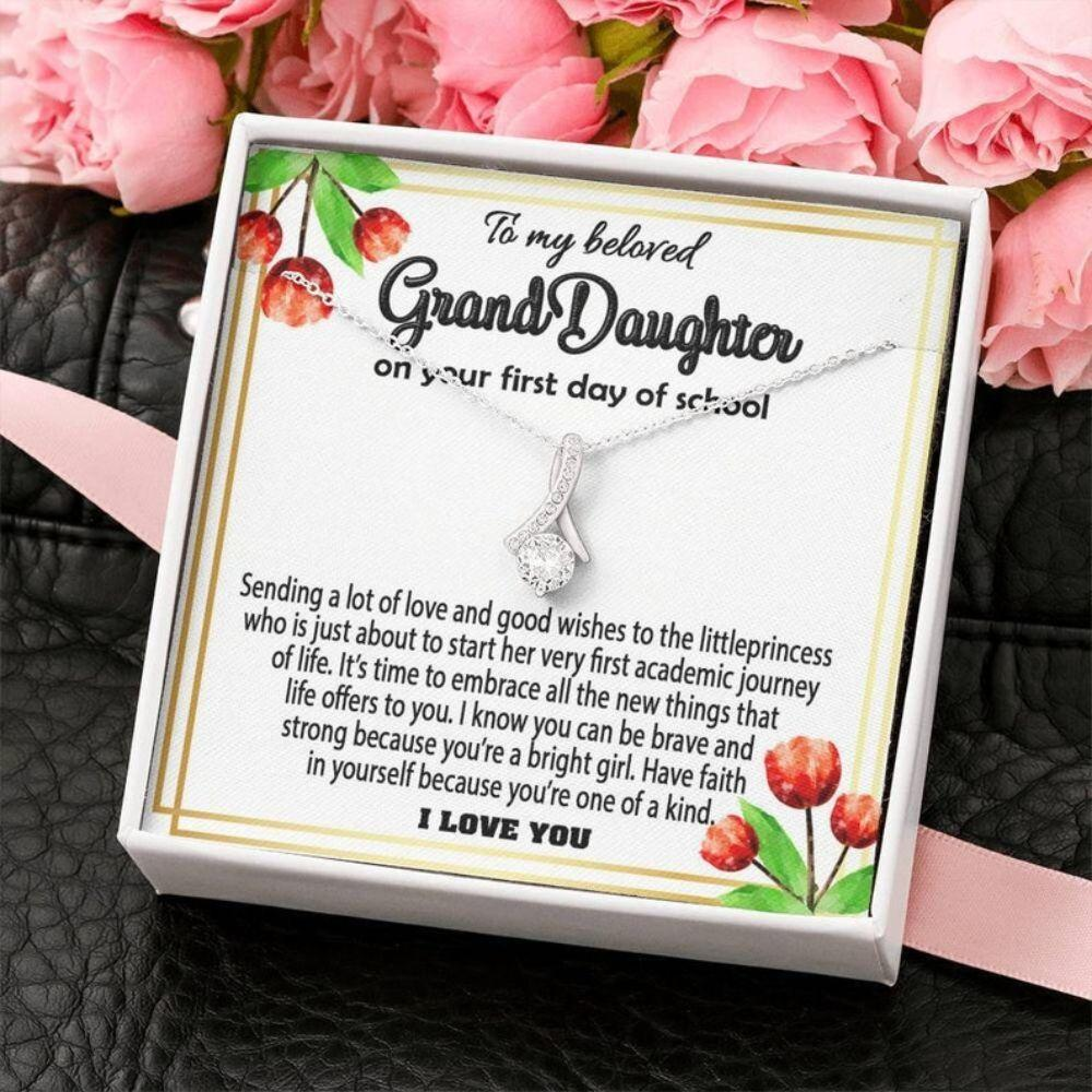 Granddaughter Necklace, First Day Of School Gift For Granddaughter, Back To School Gift, Gift For Granddaughter From Grandma