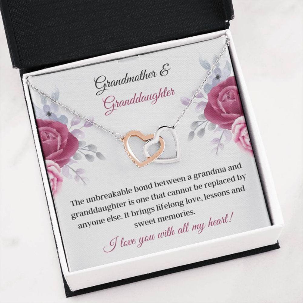 Granddaughter Necklace Gift - Grandma Necklace - Family Necklace - Grandma Bond - Special Granddaughter - Generation Keepsake