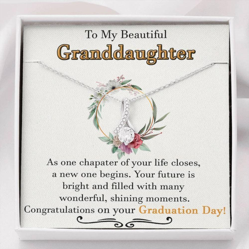 Granddaughter Necklace, Graduation Necklace For Granddaughter, Sentimental Graduation Granddaughter Gifts, Graduation Gift For Teenage Girl