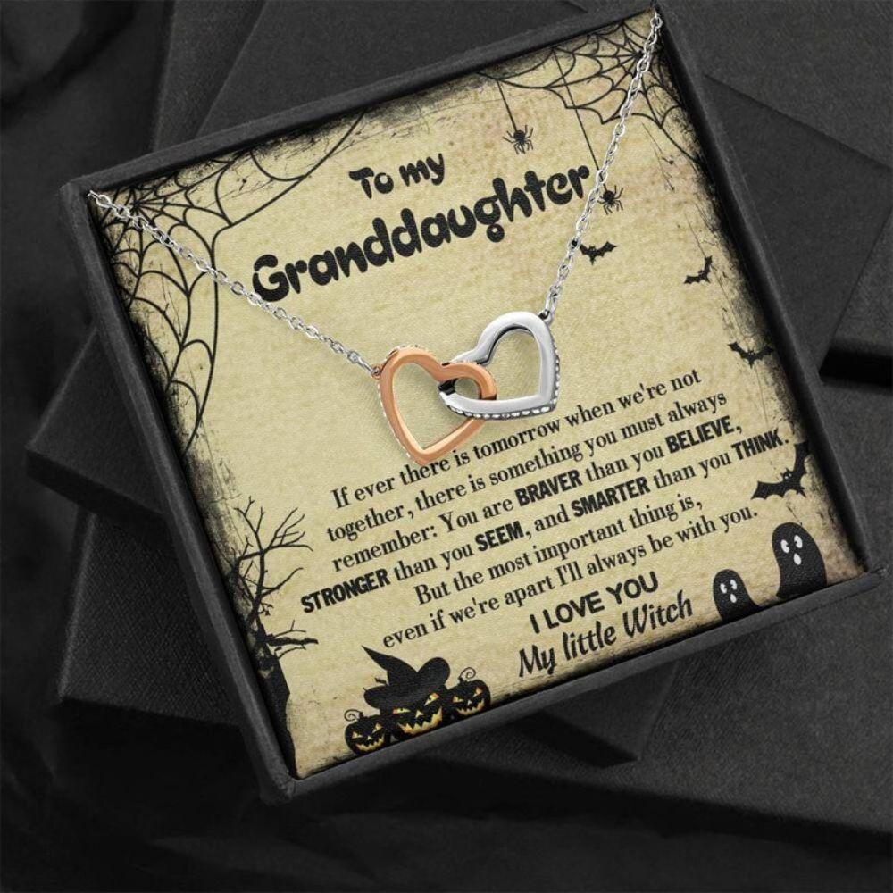Granddaughter Necklace, Granddaughter Halloween Jewelry Gift From Grandma, Granddaughter Gift From Nana, Halloween Necklace