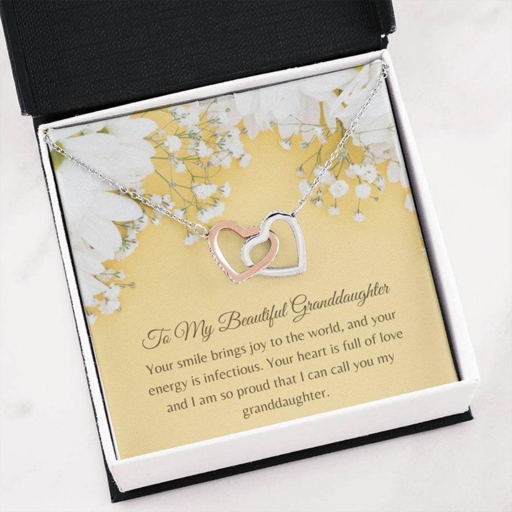 Granddaughter Necklace, Love For Granddaughter Gift - Granddaughter Sentimental Keepsake - Family Necklace - Generation Gift