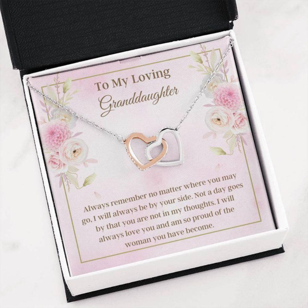 Granddaughter Necklace - Necklace For Granddaughter - Loving Message Card - Sweet Family Keepsakes - Granddaughter Christmas Gift