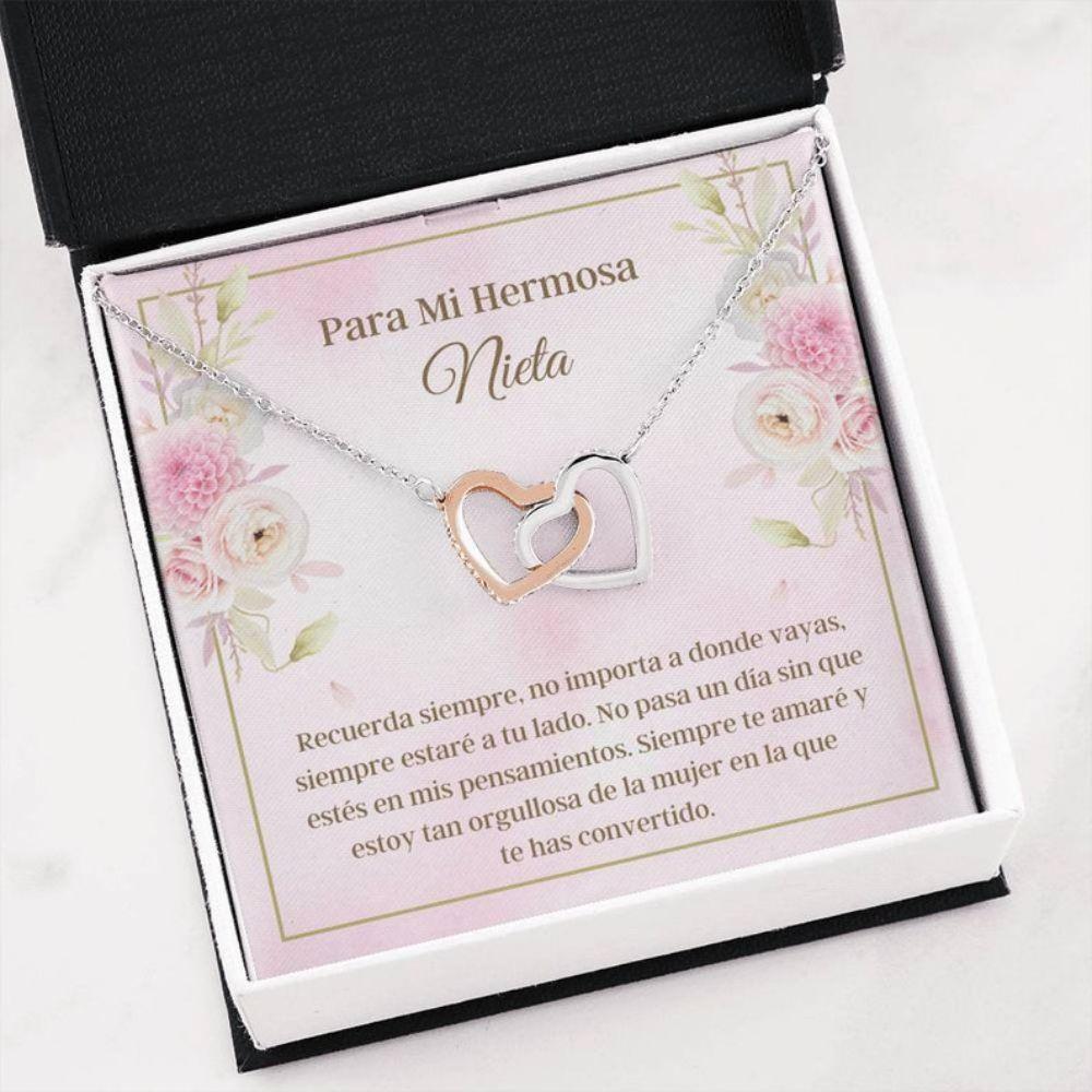 Granddaughter Necklace, Nieta Collar Keepsake - Latina Nieta Gift - Spanish Granddaughter Gift - Sweet Nieta Necklace
