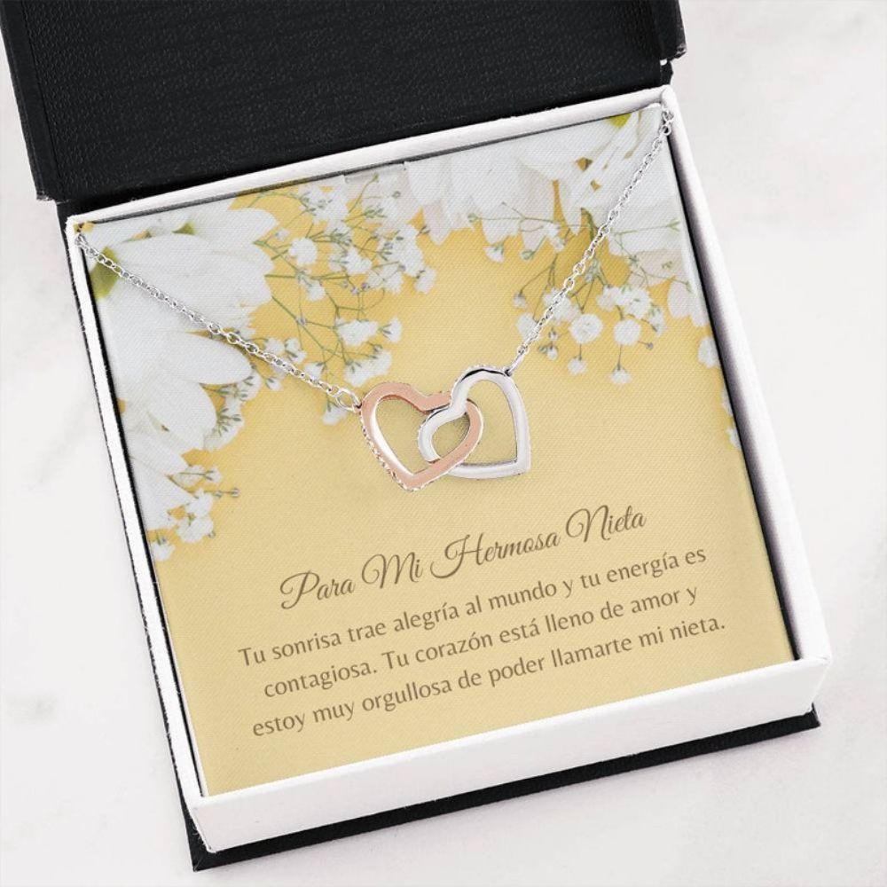 Granddaughter Necklace, Spanish Granddaughter Gift - Nieta Collar Carta - Nieta Necklace Gift - Love Granddaughte - Nieta Navidad