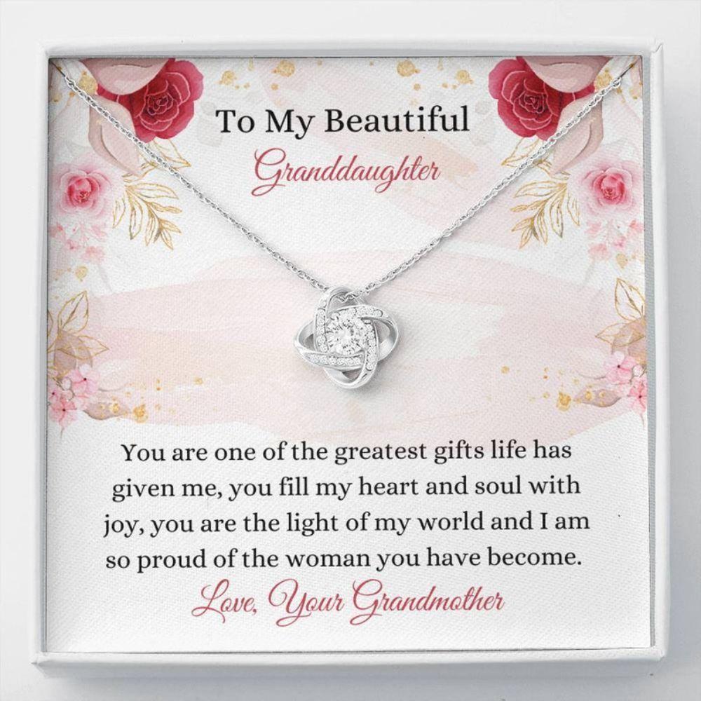 Granddaughter Necklace, Sweet Granddaughter Gift From Grandma - Grandkid Necklace - Granddaughter Christmas Gift