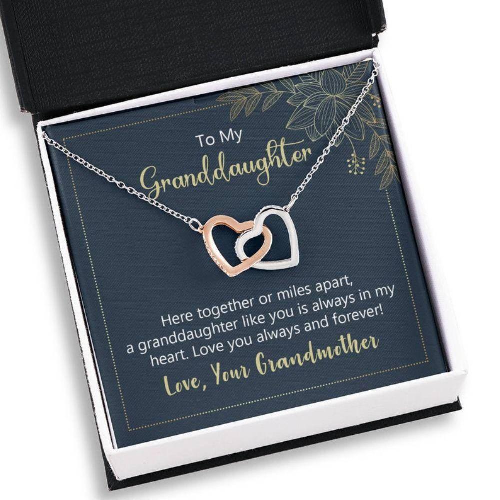 Granddaughter Necklace, Sweet Granddaughter Gift - Sentimental Necklace - Granddaughter Keepsake - Inspirational Gifts