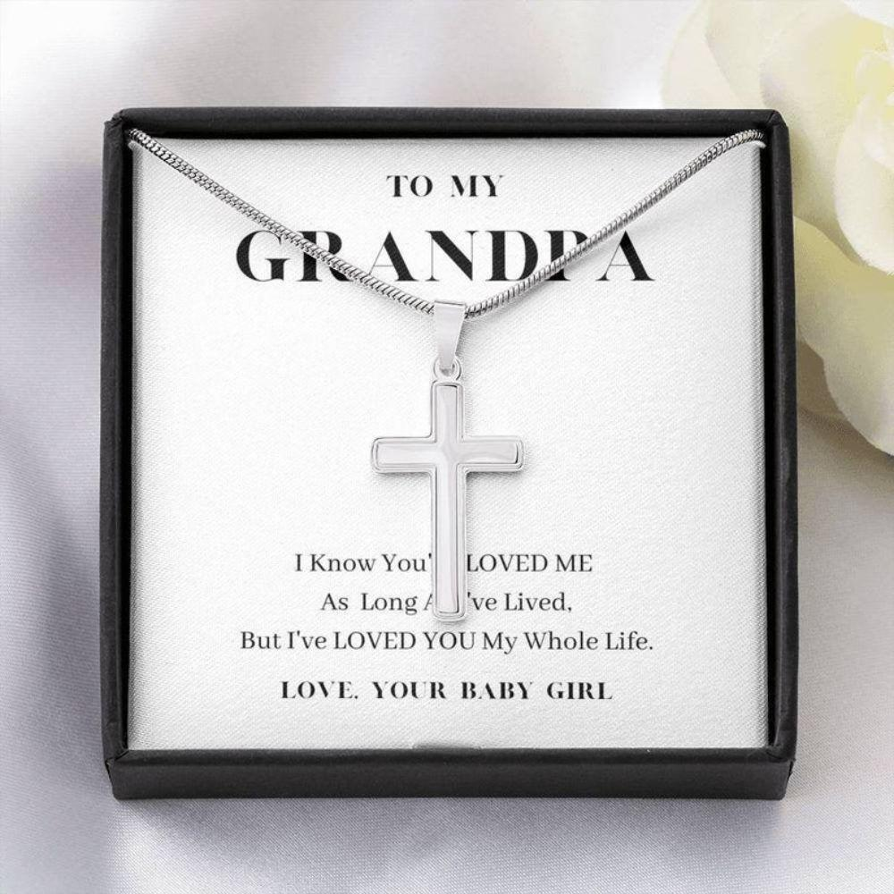 Grandfather Necklace, Gift To My Grandpa Necklace For Father's Day, Grandpa Gift, Granddaughter To Grandpa Gift