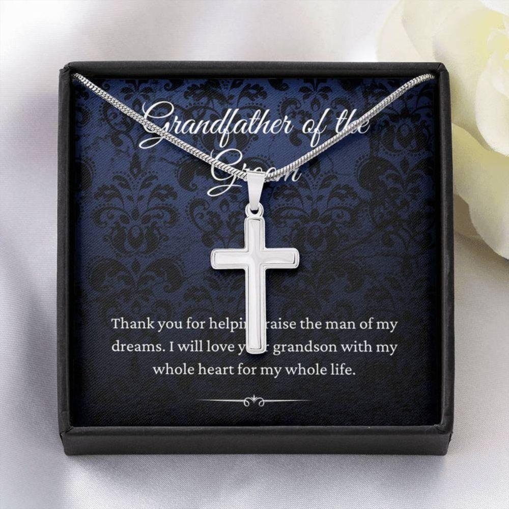 Grandfather Necklace, Grandfather Of The Groom Gift From Bride, To My Grandpa Of The Groom Necklace Present Gift From Bride