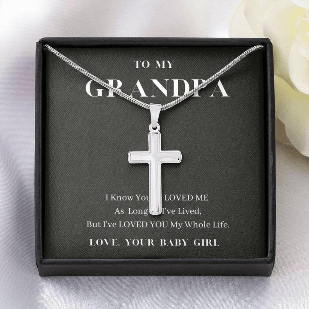Grandfather Necklace, To My Grandpa Neckalce, Love You My Whole Life, Grandpa Gift, Granddaughter To Grandpa Gift
