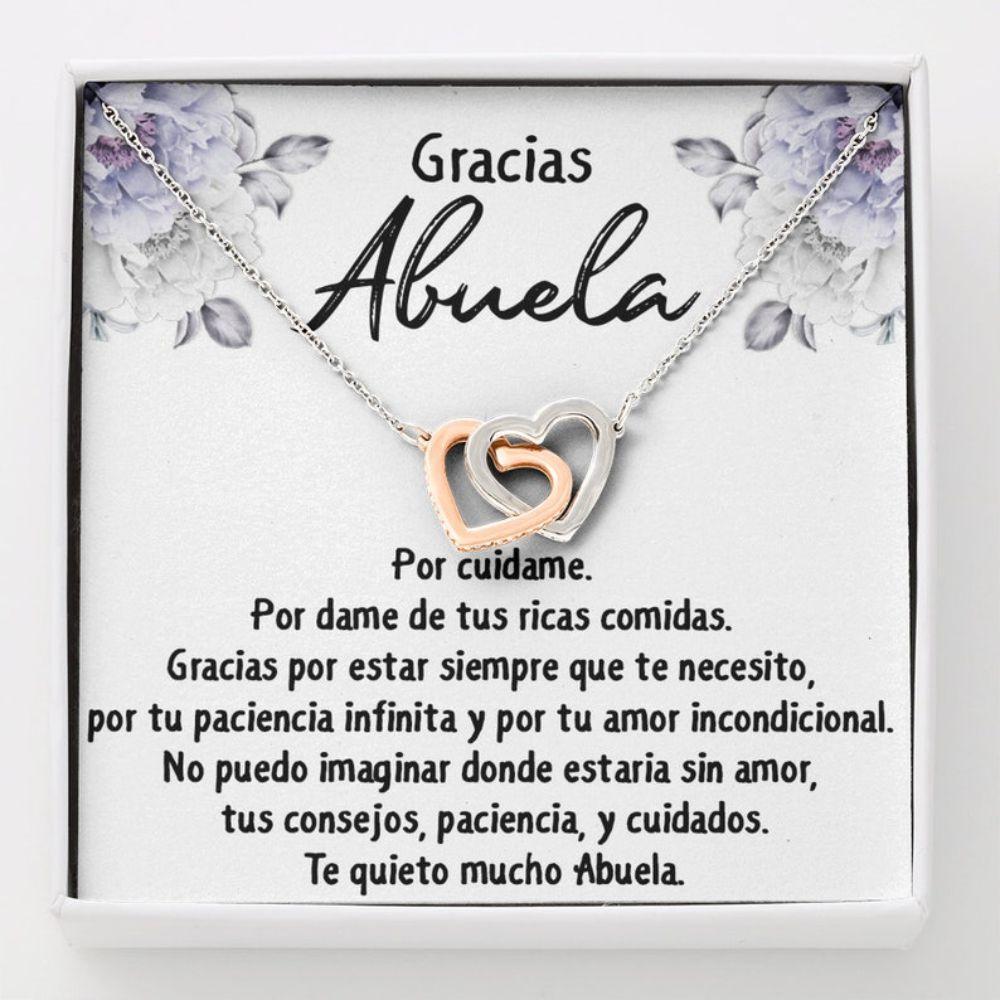 Grandmother Necklace, Abuela Necklace Gift, Regalo Para Abuela, Gracias Abuela Collar, Regalo De Cumplea�os Para Nana , Spanish Grandmother Gift