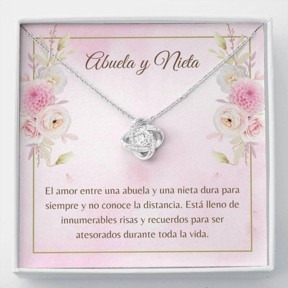 Grandmother Necklace, Abuela Necklace - Spanish Nieta Gift - Spanish Generations Gift - Abuela Christmas - Love For Nieta