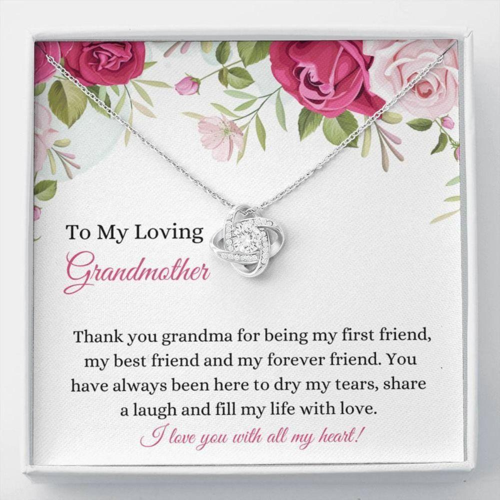 Grandmother Necklace, Best Grandma Gift - Nana Necklace - Grandmother Keepsake - Family Necklace - Grandma Christmas Gift