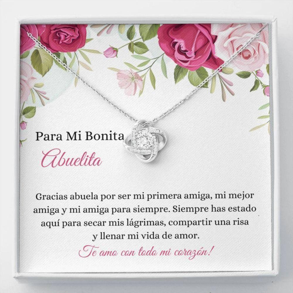 Grandmother Necklace, Bonita Abuelita Collar - Spanish Latina Grandma Gift - Abuela Necklace Box Gift - Sweet Grandmother