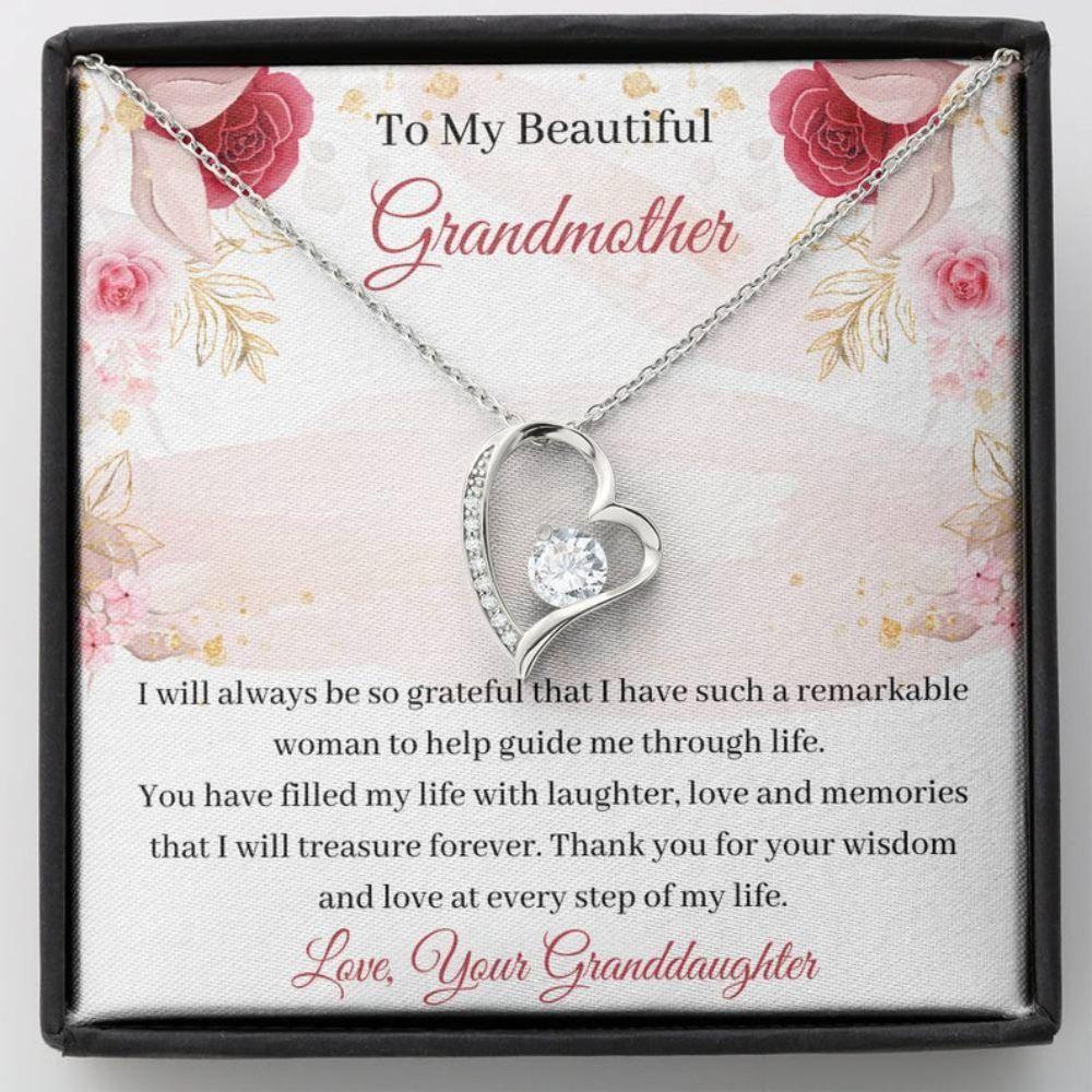Grandmother Necklace, Grandma Card Necklace - Sweet Grandmother Gift - Love For Grandma - Necklace With Card - Best Grandma Ever
