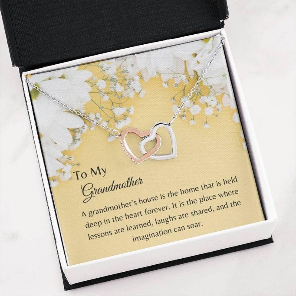 Grandmother Necklace - Grandma Gift - Sweet Grandma Gift - Birthday Necklace - Family Keepsake - Gift From Grandkids