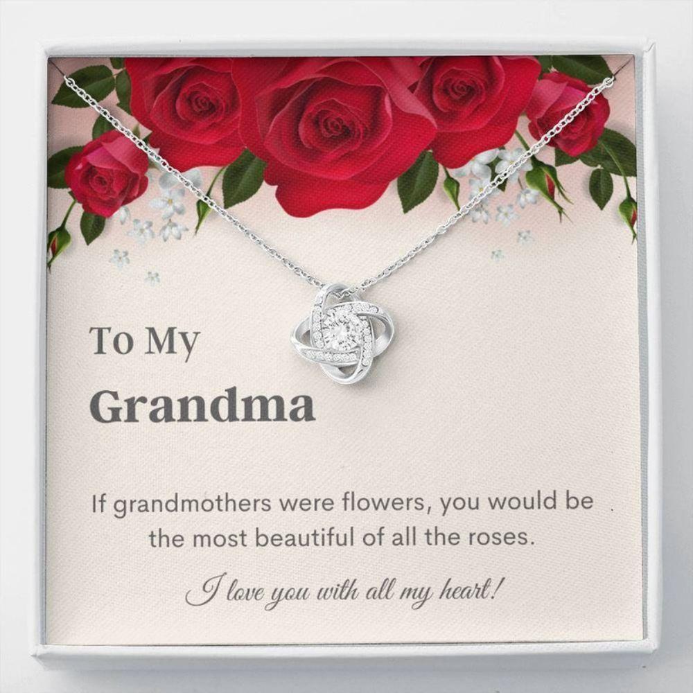 Grandmother Necklace - Grandma Message Card - Elegant Necklace Gifts - Sweet Grandma Gifts - Bling Necklace