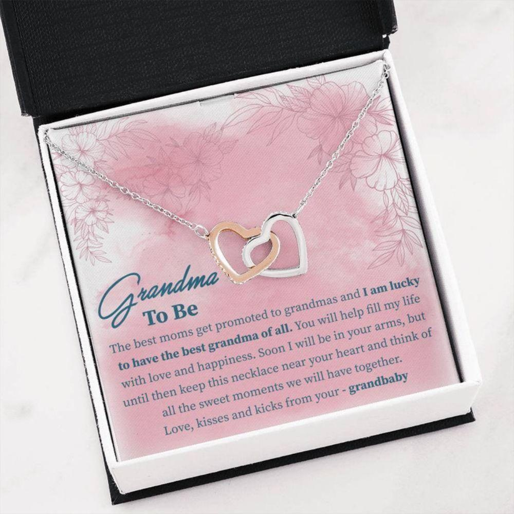 Grandmother Necklace, Grandma To Be Gift - Grandma Baby Announcement Necklace - Card For Grandmother - Pregnancy Announcement Gift