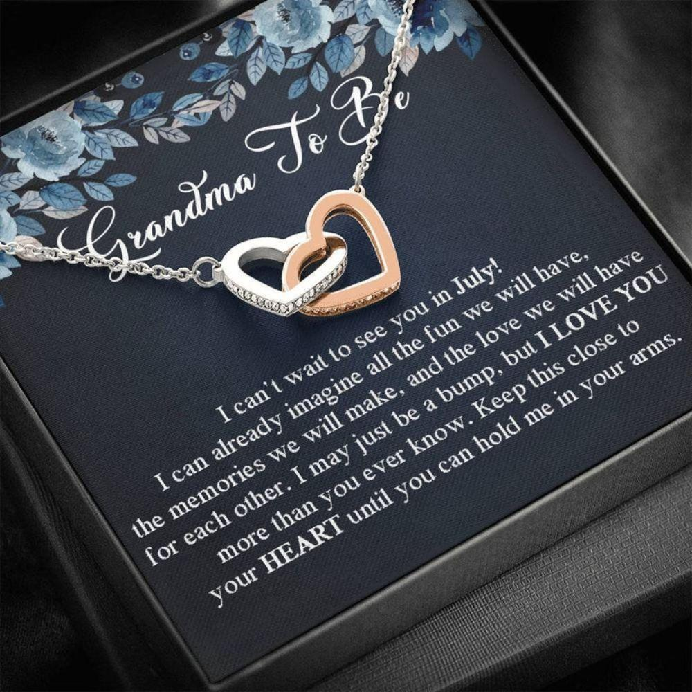 Grandmother Necklace,  Grandma To Be Gift, Mother's Day For Future Grandma Necklace, Expecting Grandma Gift, Pregnancy