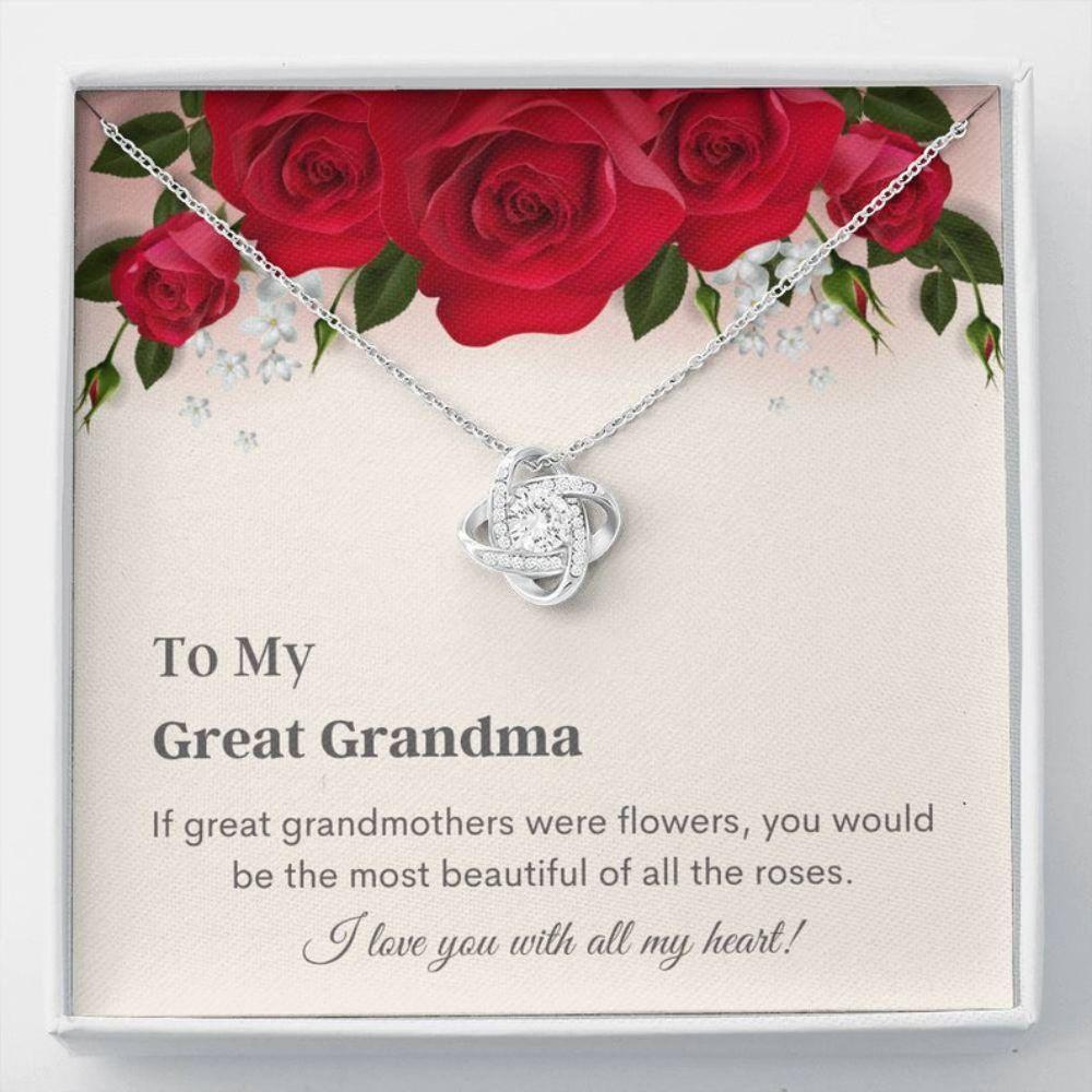 Grandmother Necklace, Great Grandma Necklace - Great Grandmother Gift - Sentimental Keepsake - Great Grandma Christmas