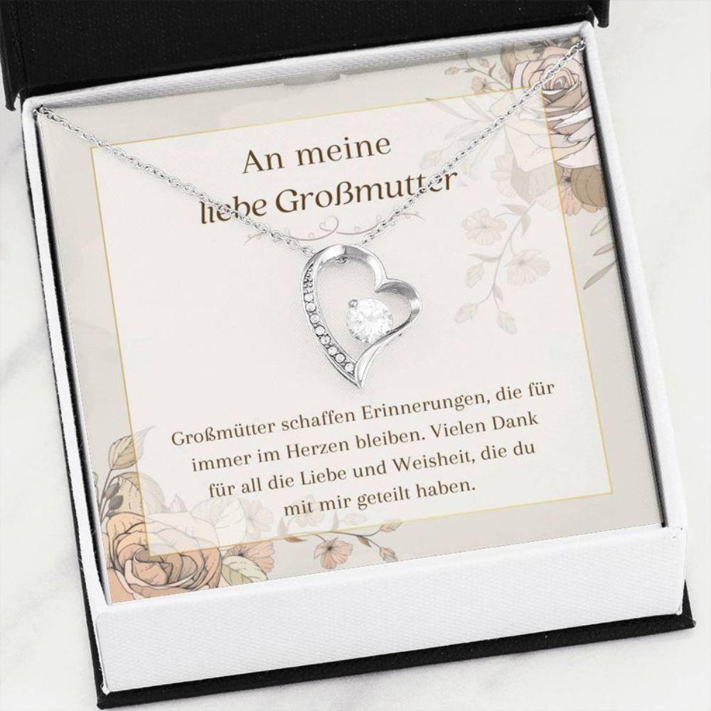 Grandmother Necklace, Grobmutter Schmuck - Grobmutter Gift Ideas - Gift For German Grandma Necklace - Beste Grobmutter