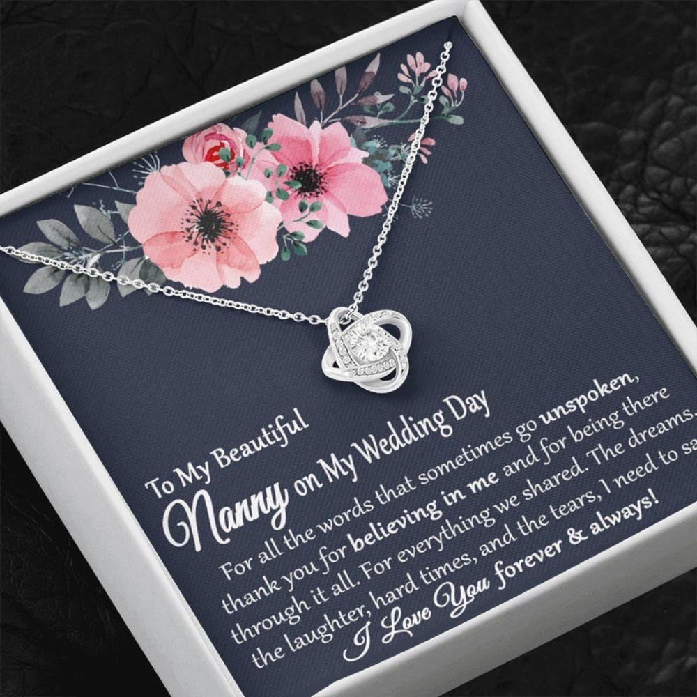 Grandmother Necklace, Nanny Of The Bride Gift, Gift From Bride To Grandmother On Wedding Day, Nanny Gifts, Wedding Gift For Nanny, Grandma