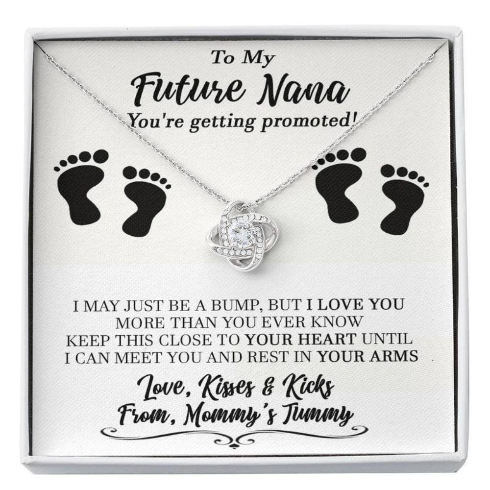 Grandmother Necklace, New Nana Gift, Grandma To Be, Gift For Grandmother To Be, Pregnancy Reveal Gift For Future Nana, Promoted To Nana