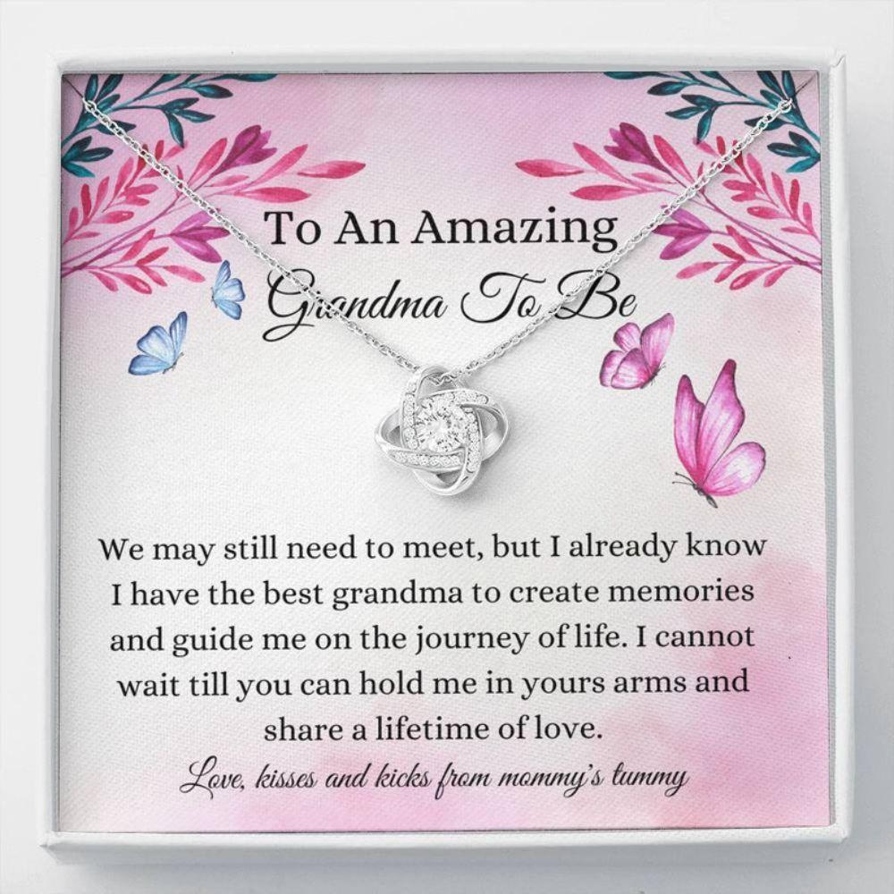 Grandmother Necklace, Pregnancy Announcement Grandma Gift - New Nana Keepsake - Grandma To Be Love - Baby Revel Gift