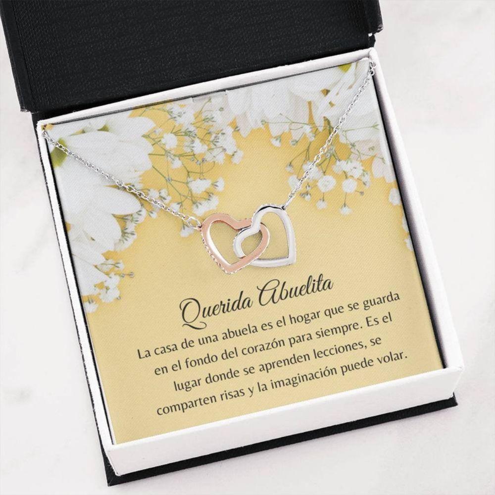 Grandmother Necklace, Querida Abuelita Gift - Amor Para Abuela - Abuela Christmas Necklace - Latina Grandma Gift - Spanish Nana Gift