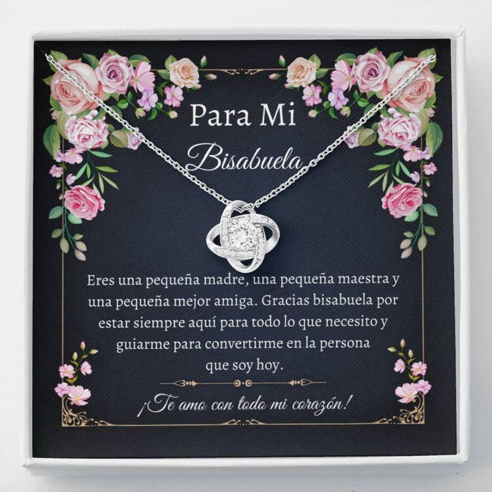 Grandmother Necklace, Sweet Bisabuela Necklace - Spanish Bisabuela Gift - Spanish Great Grandma Gift - Bisabuela Regalo