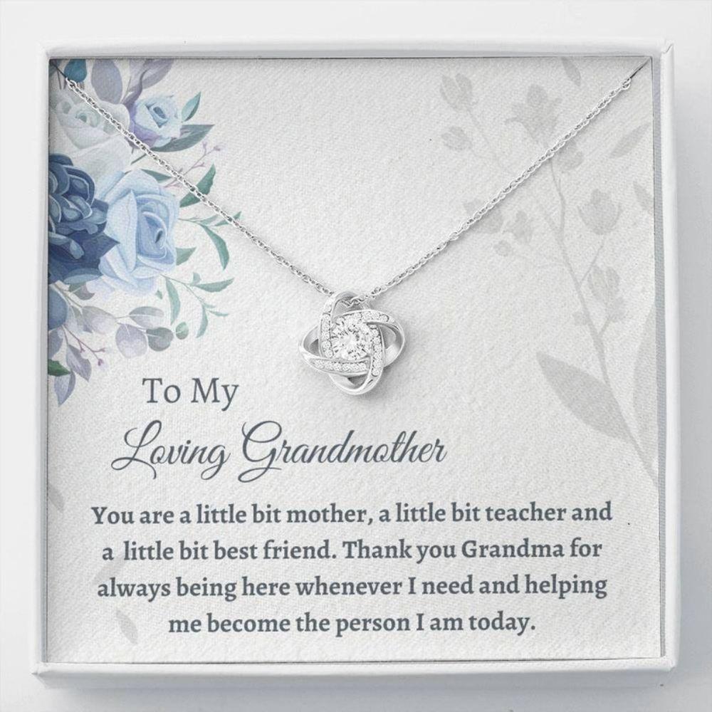 Grandmother Necklace, Sweet Grandma Gift - Love For Grandmother - Grandma Necklace Gift - Caring Gifts - Family Christmas