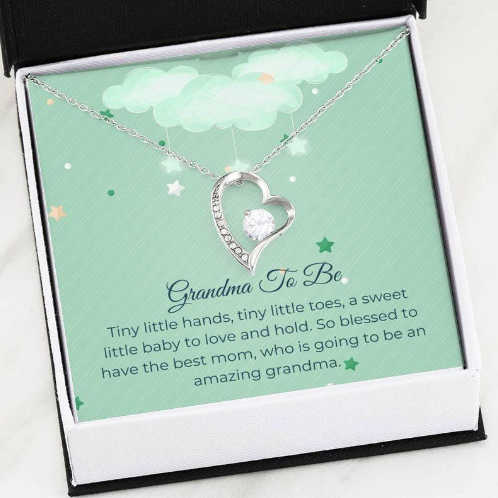 Grandmother Necklace, Sweet Grandma To Be - Grandma Announcement Gift - First Time Grandmother - New Nana Gift