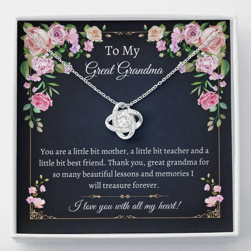 Grandmother Necklace, Sweet Great Grandma Gift - Great Grandma Necklace - Gift From Great Granddaughter - Generations Gift