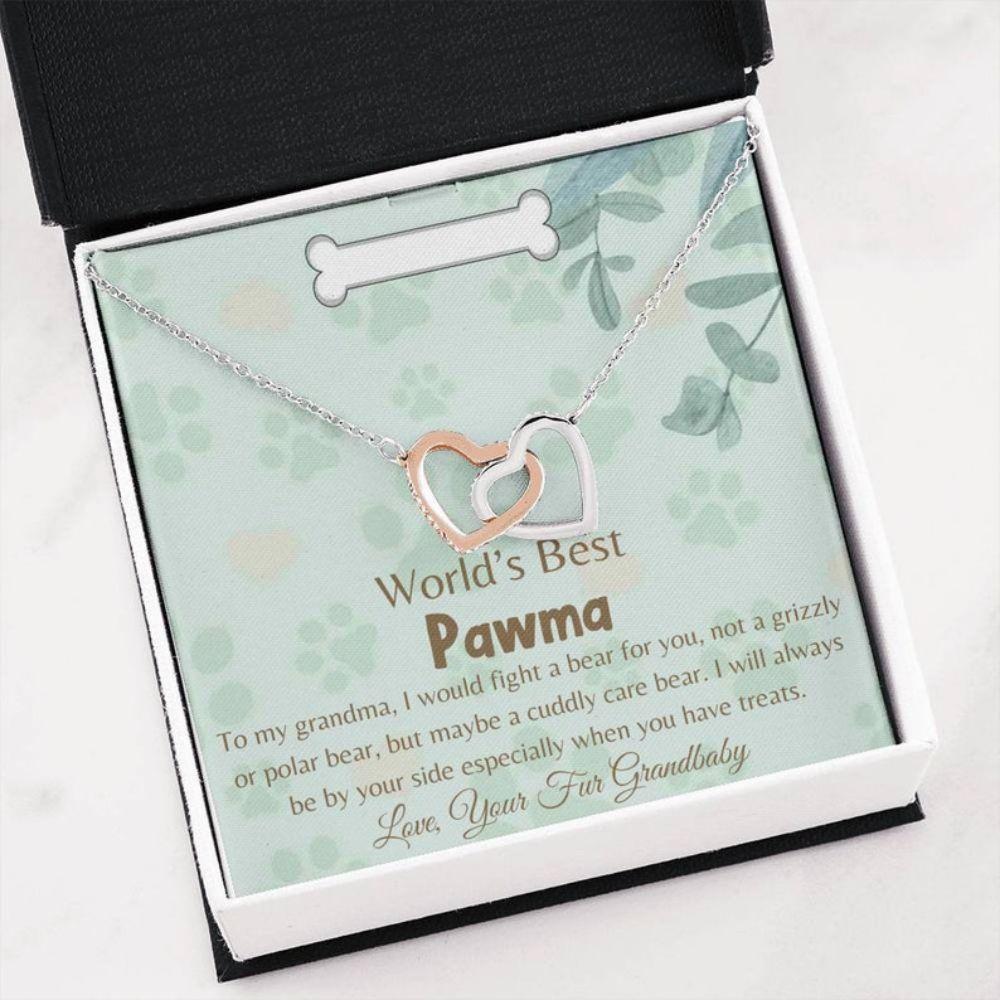 Grandmother Necklace, Sweet Pawma Gift- Love Dog Grandma - Pet Grandma Gift - Just Because Gift - Best Fur Grandbaby - Christmas Gift