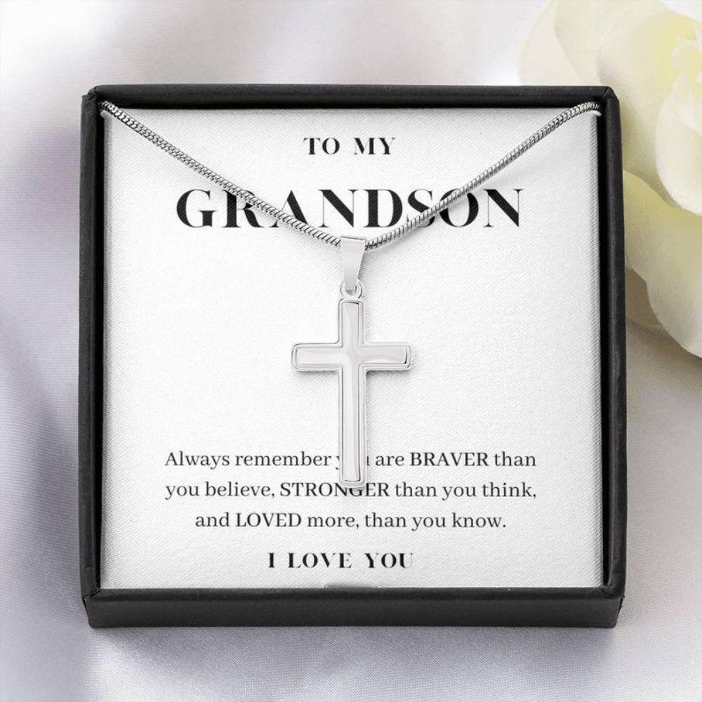 Grandson Necklace, Always Remember You Are Loved, To My Grandson Necklace, Birthday Gift For Grandson, Present From Grandma
